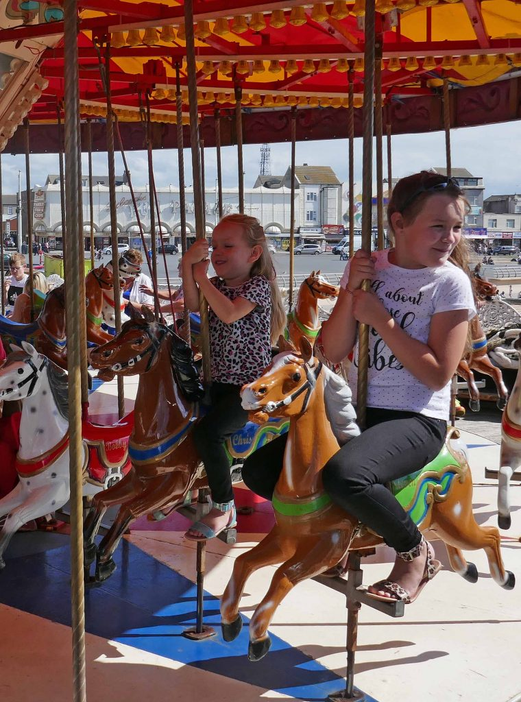 Riding the Carousel at Central Pier