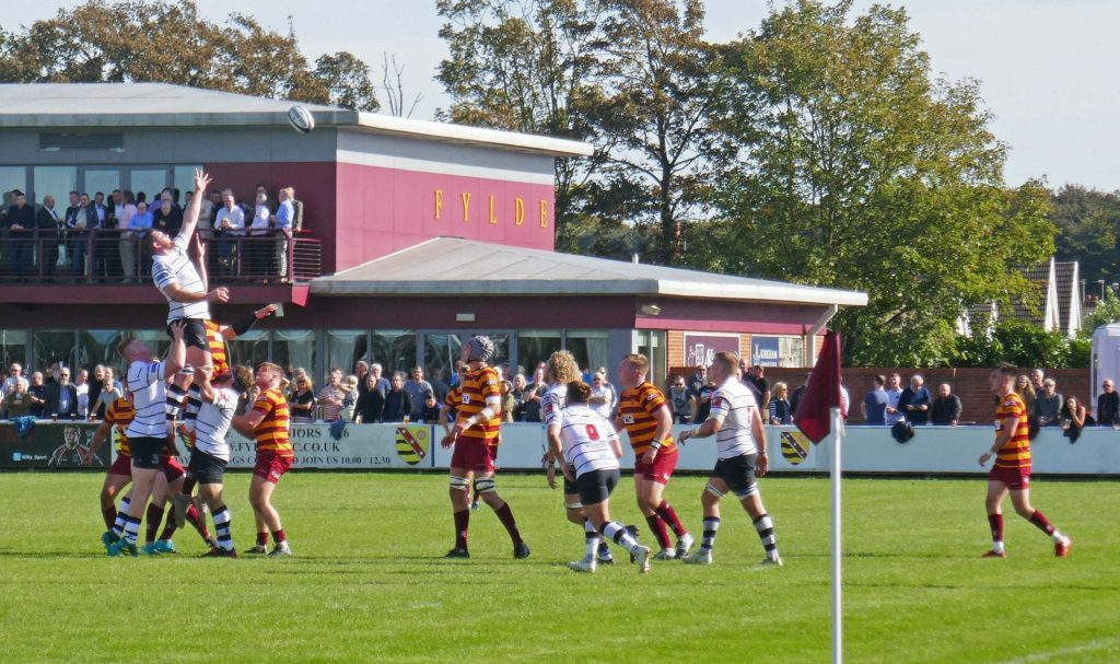 Fylde RFC v Preston Grasshoppers. Photo: Sue Massey