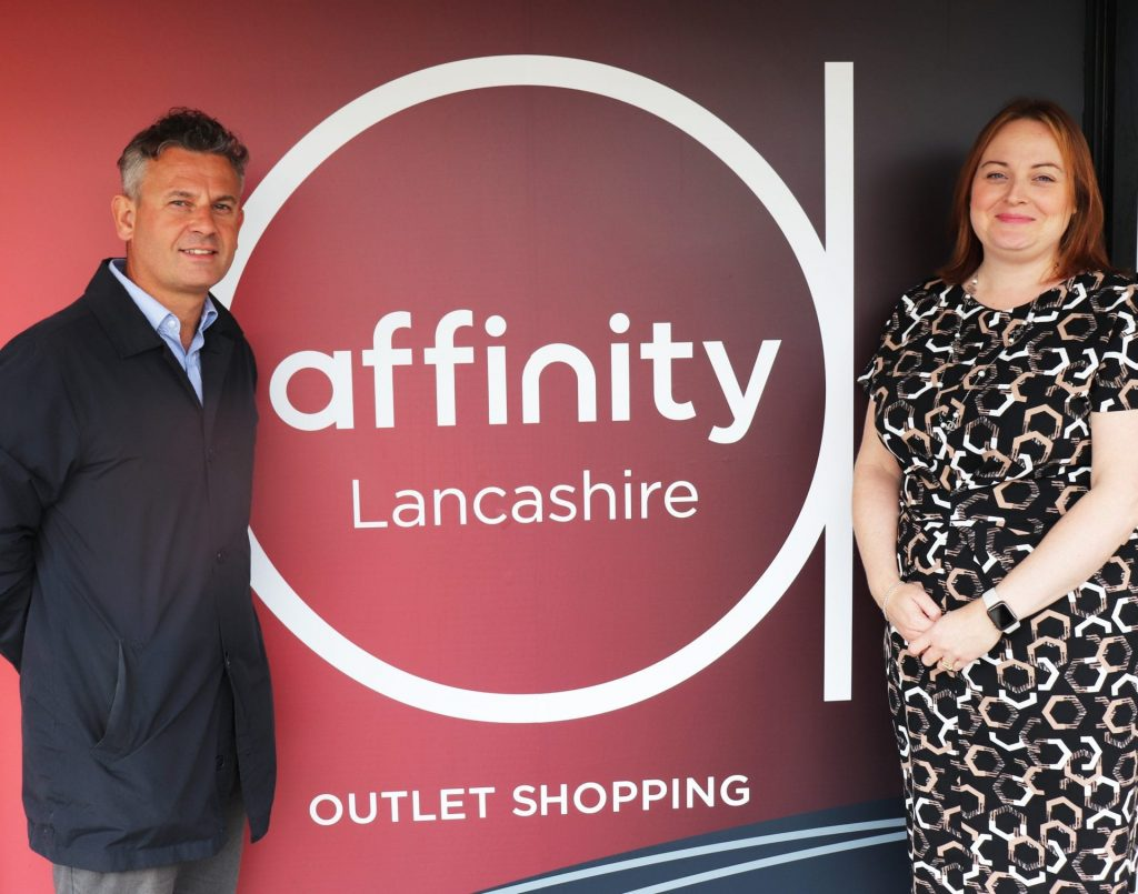 Affinity Partners with Fleetwood Town Community Trust. Pictured: Matt Hilton and Catherine Holmes