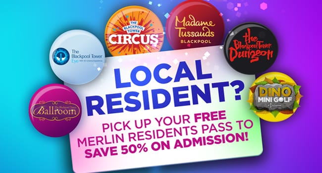 50% off Merlin attractions for local residents, including the Blackpool Tower