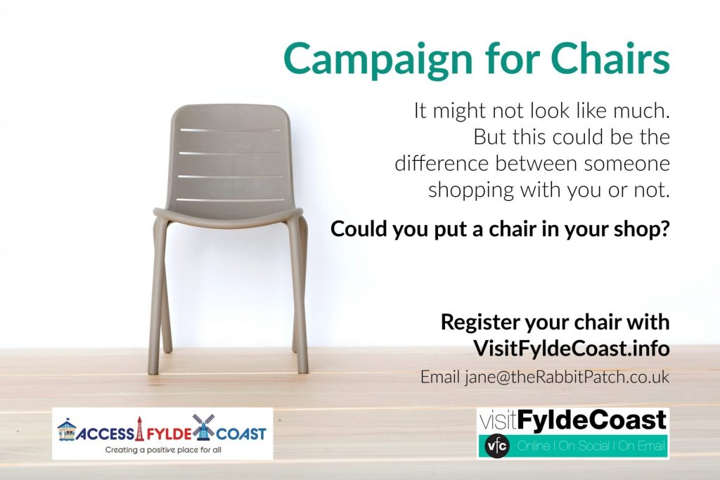 Campaign for Chairs with Visit Fylde Coast and Access Fylde Coast