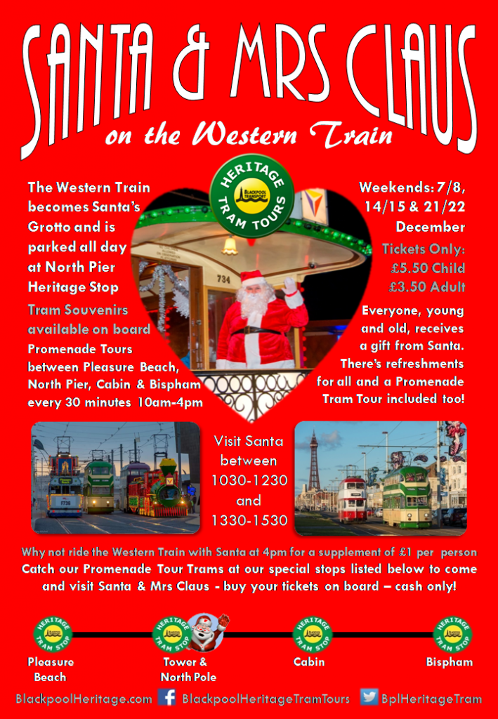 Santa and Mrs Claus on the Western Train Tram