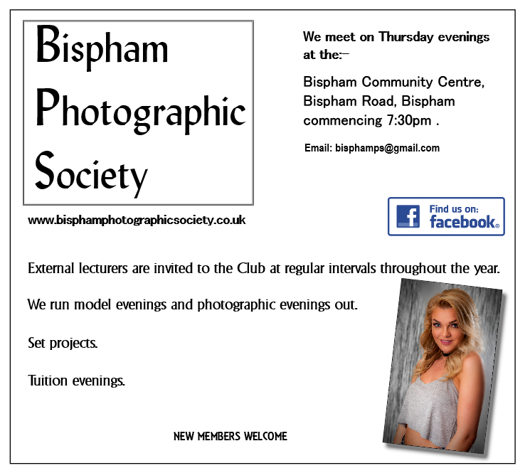 Bispham Photographic Society meet every Thursday evening.