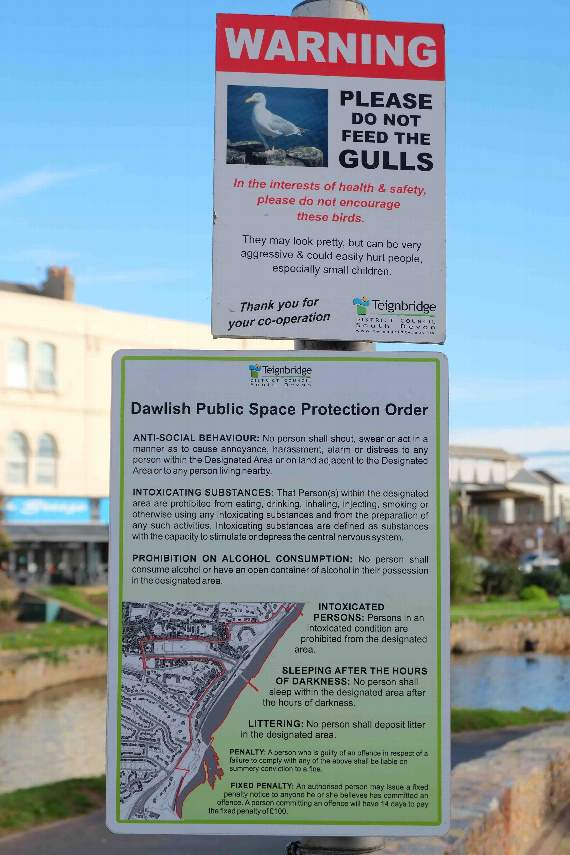 Prohibition signs at Dawlish Warren, the bossiest town in Britain. Photo: Dawlish Newspapers