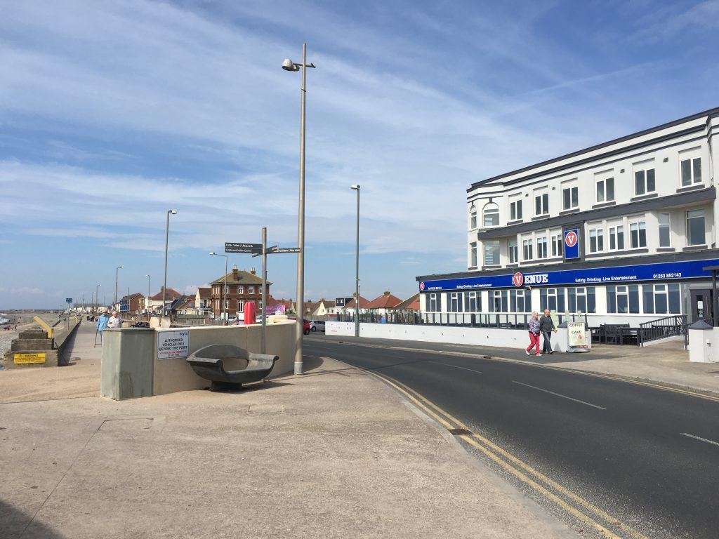 The Venue Cleveleys - right on the promenade against the beach