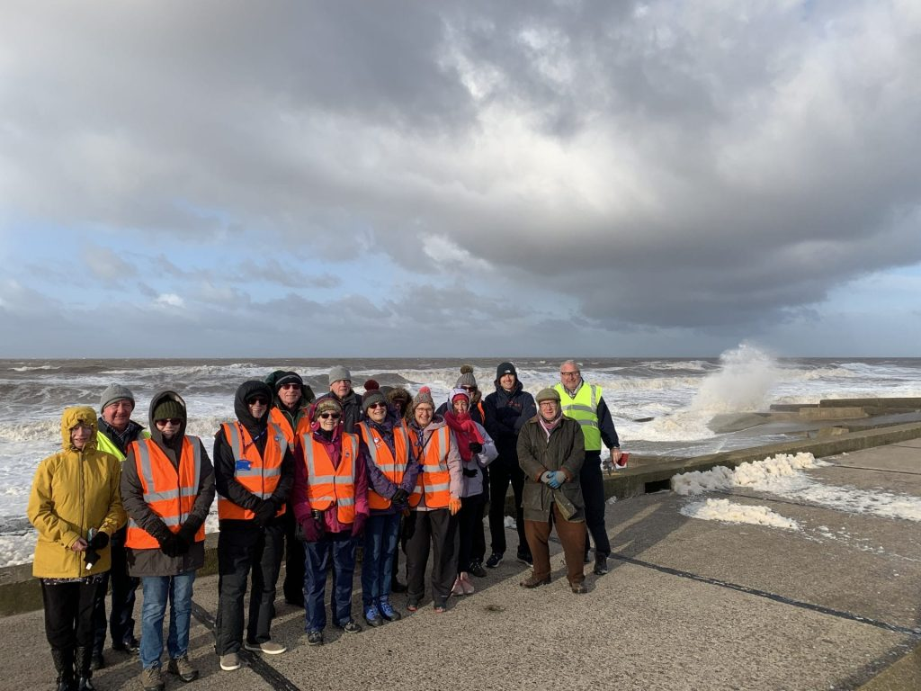 The beach clean that wasn't, as the cleaners were blowing in the wind!