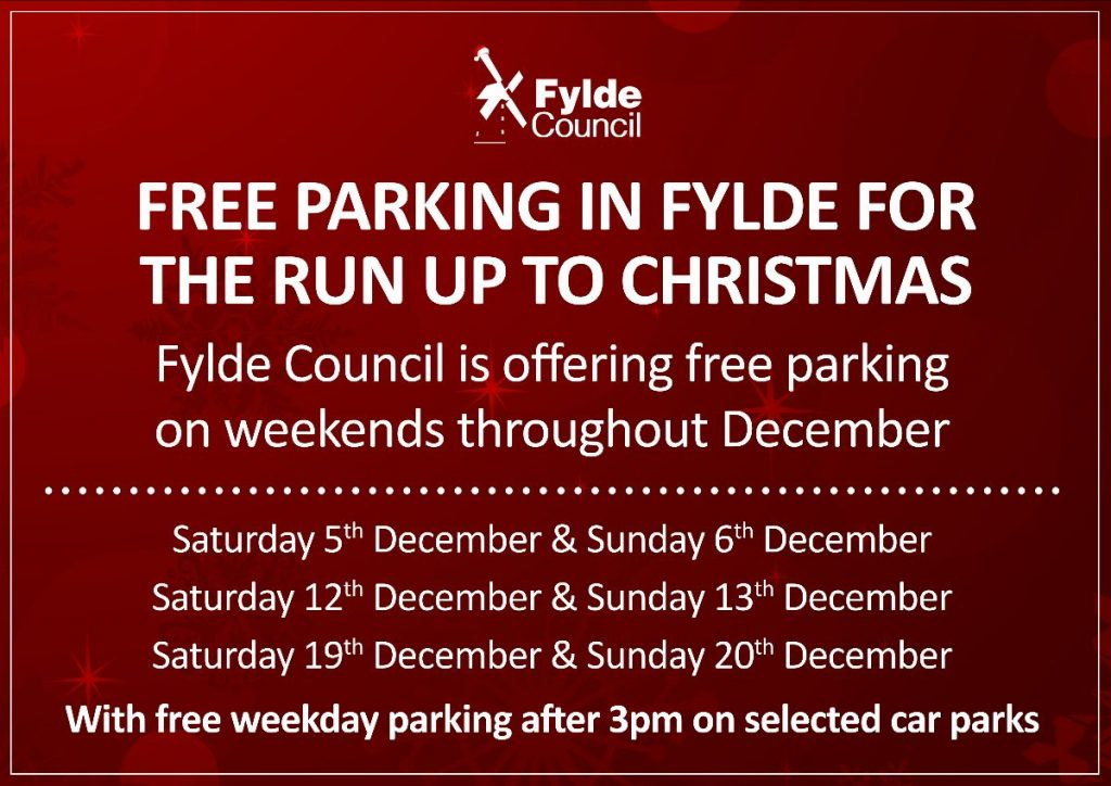 Christmas Parking Offers And Free Parking Visit Fylde Coast