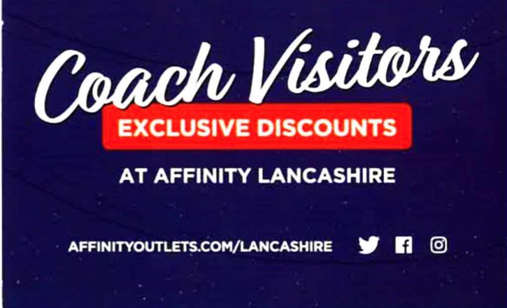 Discounts for coach visitors at Affinity Lancashire