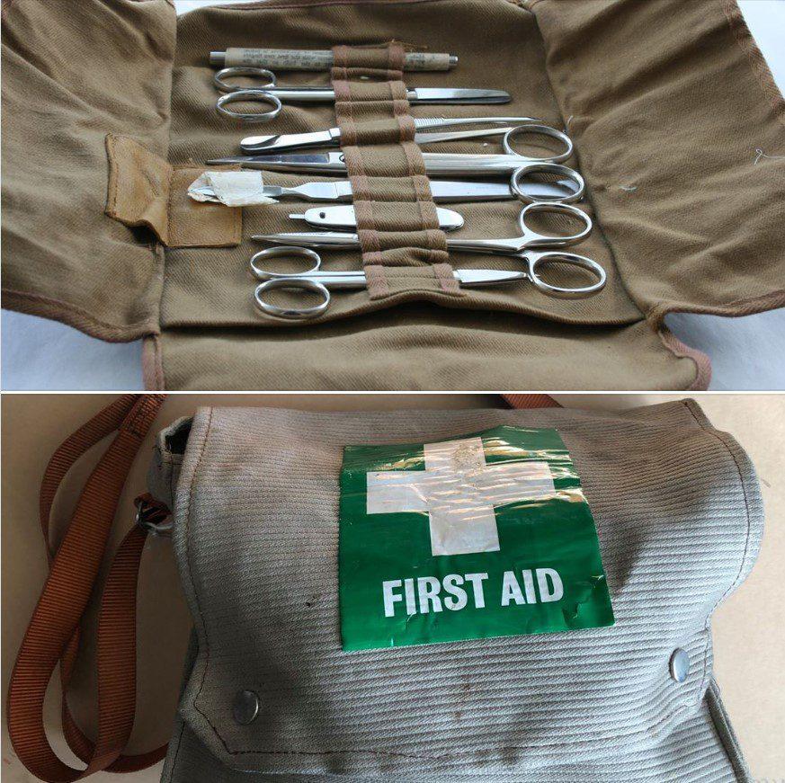First Aid Equipment, used on board Jacinta trawler. Copyright: Fleetwood Museum