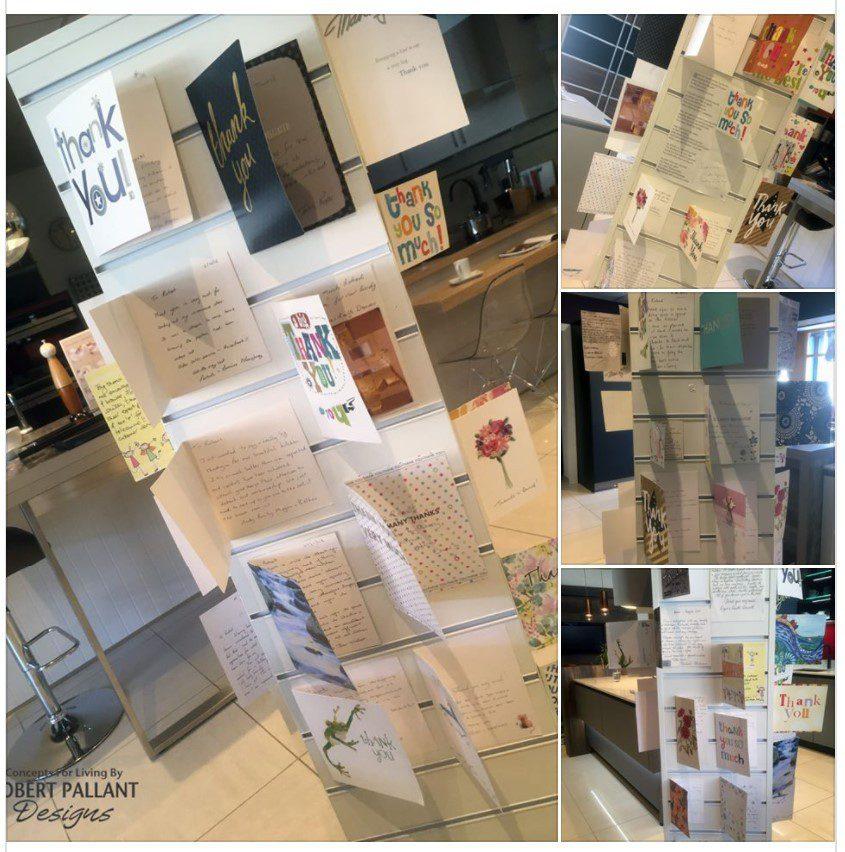 Thank you display at Robert Pallant Designs