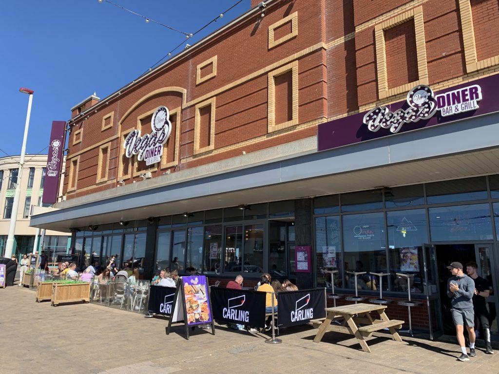 Eat outdoors on Blackpool promenade